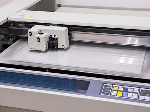 High-precision online plotter